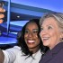 Uzo Aduba and Hillary Clinton